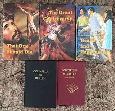 Lot of 5 Ellen G White Christian Inspirational Hardcover Books SDA Adventist EGW