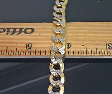 "10K Yellow Gold Cuban Bracelet With Diamond Cuts 8"" 10mm #A11B2 Adjusted price"