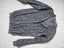 Damen Strickjacke Gr 36 38 grau Viskose Baumwolle neuwertig