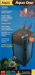 Aquis 1200 Canister Filter 1100l/hr Aqua One Marine Tropical Cold Water Filter
