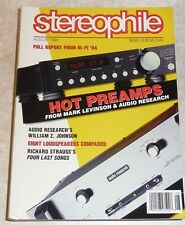 Stereophile Vol.17 #8 Aug 1994 Audio Research Levinson Artistry Duntech somatisch