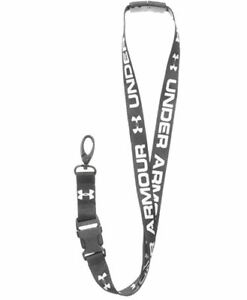 Under Armour Unisex-Adult Undeniable Lanyard Black (001)/White