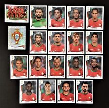 Panini FIFA World Cup Brazil 2014 Complete Team Portugal + Foil Badge
