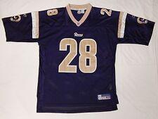 RAMS #28 MARSHALL FAULK NFL REEBOK EQUIPMENT FOOTBALL JERSEY SIZE ADULT XL