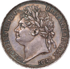 Great Britain 1822 George IV Crown SECUNDO edge NGC MS-64 RARE!!