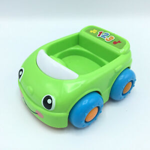 2013 Fisher Price Laugh & Learn Monkeys Learning Green Car Talking Singing
