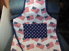 PATRIOTIC,  FLAGS & STARS  BBQ / Tail Gating adult apron, NEW,  Handcrafted