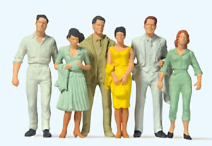"Preiser 63203 Scale 1:3 2 Gauge 1 Figurines "" Pedestrians "" Hand Painted # Nip"