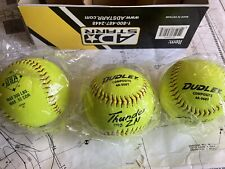 Dudley Thunder Hycon Zn Asa Composite Slowpitch Softball Box Of 12 3-new 9-used