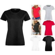 Ladies Womens Plain Casual Cap Sleeve Round Neck Basic Jersey Tee T shirt Top