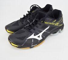 Mizuno V1GC150003 Indoor Wave Lightning Z Womens Black / Yellow Sports Shoe 11