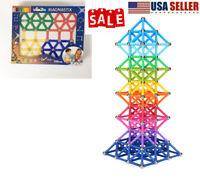 103 206 Pcs Magnetic Building Sticks Blocks Toy Non-Toxic Building Toy 3D Puzzle