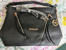 MICHAEL KORS LARGE BAG BLACK WITH CROSS BODY STRAP,or HANDBAG NEW UNUSED