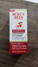NIB! Burt's Bees Renewal Smoothing Eye Cream with Hibiscus & Apple Complex