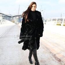 Pieced Rex Rabbit Fur Long Coat, Real Fur Coat, Winter Coat