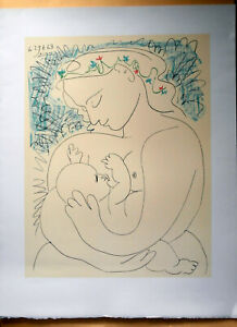 PABLO PICASSO  MATERNITÉ SIGNED AND DATED LITHOGRAPH  50x65 CM COA MATERNITY