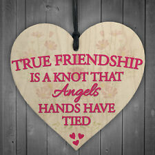 True Friendship Knot Angels Best Friend Gifts Hanging Plaque Friends Home Sign