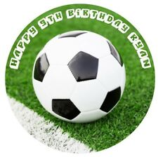 1 x Soccer Ball 19cm round personalised cake topper edible image