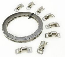 8pc Stainless Steel Hose Clamp Set Jubilee Clips Etc New