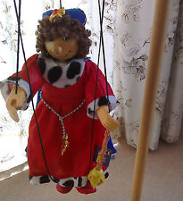 Puppet/Marionette by Fiesta Crafts of a Queen. beautifully dressed, approx.14 in