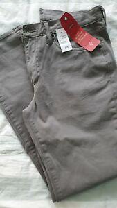 Mens levi jeans 34 Regular 511 steel grey new RRP £70