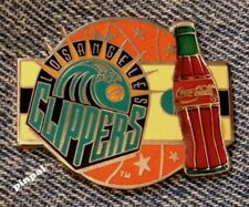 Los Angeles Clippers Pin~NBA~Coca Cola~Coke~Vintage 1994 by Imprinted Products