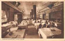 Galesburg Illinois Hote Custer Coffee Grill Antique Postcard J55046