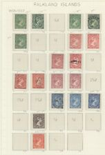 FALKLAND ISLAND COLLECTION USING STANLEY GIBBONS #'S QUEEN VICTORIA - Y581