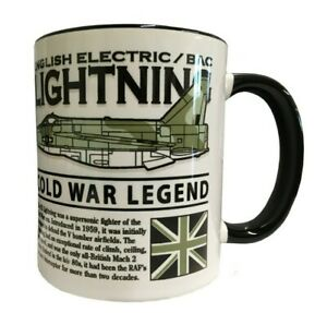 BACs ENGLISH ELECTRIC LIGHTNING RAF INTERCEPTOR AIRCRAFT DESIGN MUG.