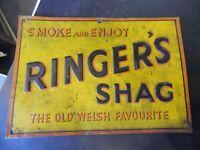 Vintage Ringer's Shag Tobacco Metal Sign