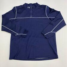 Under Armour Quarter Zip Jacket Mens 2XL ColdGear Blue Long Sleeve Casual