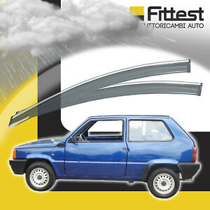 Deflettori Antiturbo Fiat Panda da 1986 Kit 2 Pz Anteriori Anti Vento Pioggia