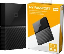WD - My Passport 2TB  USB 3.0 External Hard Drive Black Western Digital