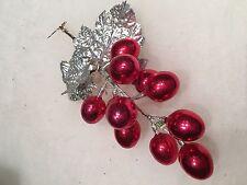 "Vintage 11 Mercury Glass RED Easter Egg Pick,Decoration,Ornament, Eggs 1 1/4"""