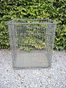 Large Vintage  Metal  Basket  Log Basket 61 cm high (1024)