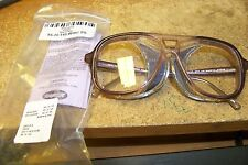 new AOSafety Prescription Eyeglasses F6000 Perforated Full-cup 55-15-145 w/bc ss
