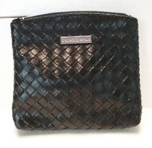 BARE MINERALS 'KEEPSAKE' Zippered Black Cosmetic Bag MakeUp Case Faux Leather
