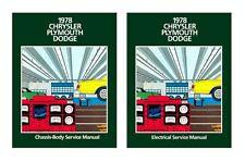 1978 Chrysler Plymouth Dodge Shop Service Repair Manual