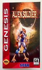 Alien Soldier - Sega Genesis - Custom Reproduction Manual - Mega Drive - US