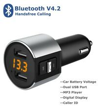 Bluetooth Car Kit FM Transmitter Dual USB Charger MP3 Player For iPhone X 8 7 6S