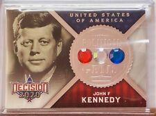 JOHN F KENNEDY 2020 DECISION POLITICAL GEMS SILVER FOIL CARD 35TH U.S. PRESIDENT