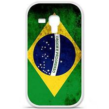Coque Housse en Silicone France Samsung Galaxy Trend S7560 - Drapeau brésil