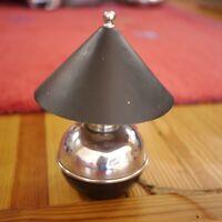 Vintage 1930s Art Deco Chase Brass Copper Black Chrome Ball Table Desk Lamp