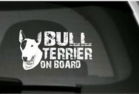 Bull Terrier On Board, Car Sticker, High Detail,Great Gift For Dog Lover