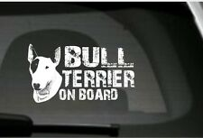 Bull Terrier On Board, Car Sticker, High Detail,Great Gift For Dog Lover
