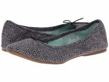 Sanuk YOGA PRIMA Womens Ballet Slipper Shoes 7 Grey Animal Dot NEW