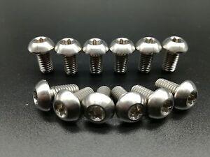 12Pcs Titanium Ti M5x10mm Screws Torx T25 Head Titanium Disc Brake Rotor Bolts