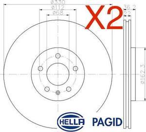 Rear Brake Discs 330mm fits Audi A5 F53 2.0 TFSI quattro S5 quattro