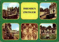 Dresden Sachsen DDR Mehrbild-AK 1984 Zwinger ua. Nymphenbad, Hermen Waldpavillon
