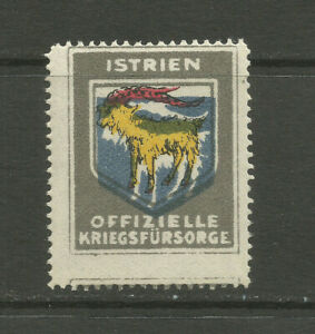 WWI/Austro-Hungary Official War Support charity stamp/label (Istria)